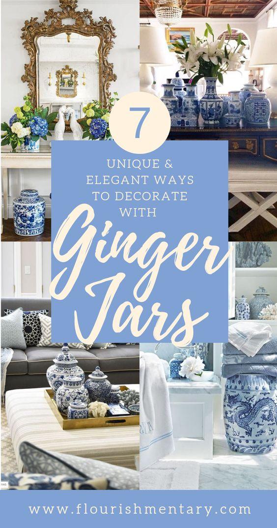 7 Elegant & Unique Ways To Decorate With Ginger Jars | Flourishmentary