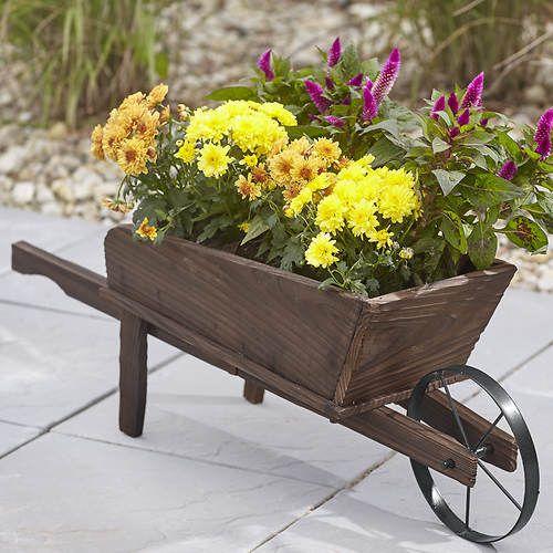 Wooden Wheelbarrow Planter Wheelbarrow Planter Wooden