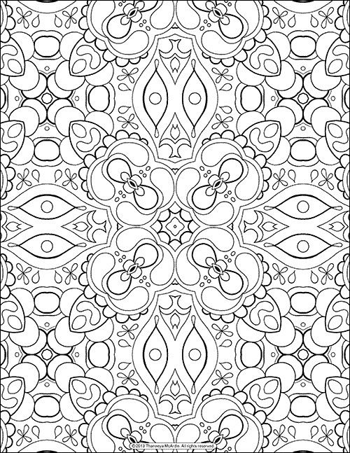 These Printable Mandala And Abstract Coloring Pages Relieve Stress ...