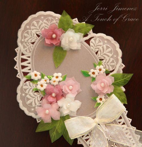 Pergamano 3D floral card