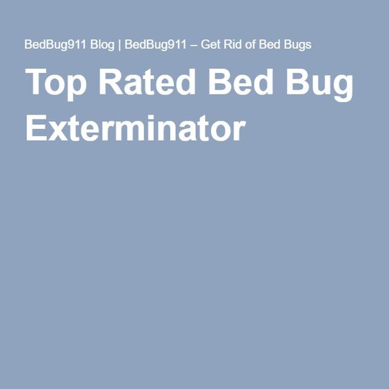 Top Rated Bed Bug Exterminator