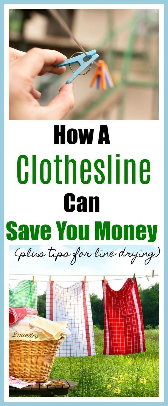 How A Clothesline Can Save You Money - Once upon a time, every backyard had a clothesline full of clothes flowing in the wind. People are once again finding that's it's a great way to save money as well as having other benefits. Find out all the different ways you can save money, plus we've included some tips for how to line dry. Money saving tips, frugal living, homemaker tips, lost arts, old fashioned living, eco friendly