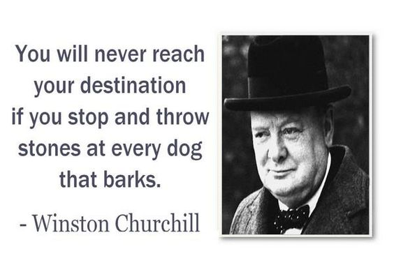 Let barking dogs be ...
