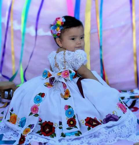 Vestido Con Flores En 2019 Fiestas De Cumpleaños Mexicanas
