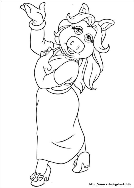 Miss Piggy coloring page | 80's coloring pages | Pinterest ...