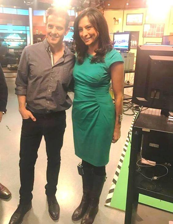 Journalist Lourdes Duarte with her rumored boyfriend