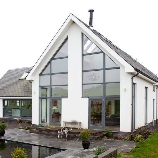 Glass-filled eco self-build This environmentally friendly home was ...