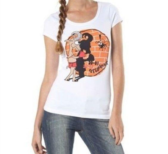 """T-Shirt von AJC mit Sternzeichen Frontprint """"STEINBOCK"""" in weiss Größe 36   eBay"""
