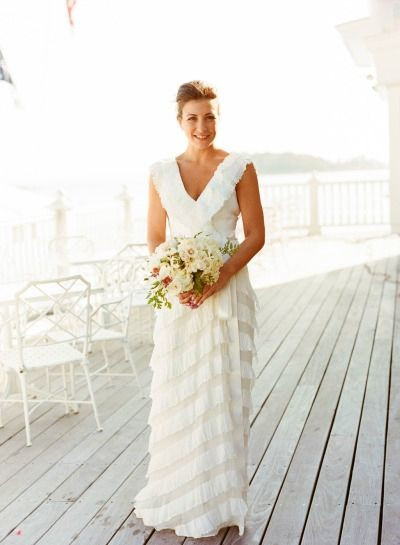 Modelo de vestido de noiva com textura elegante e sofisticada