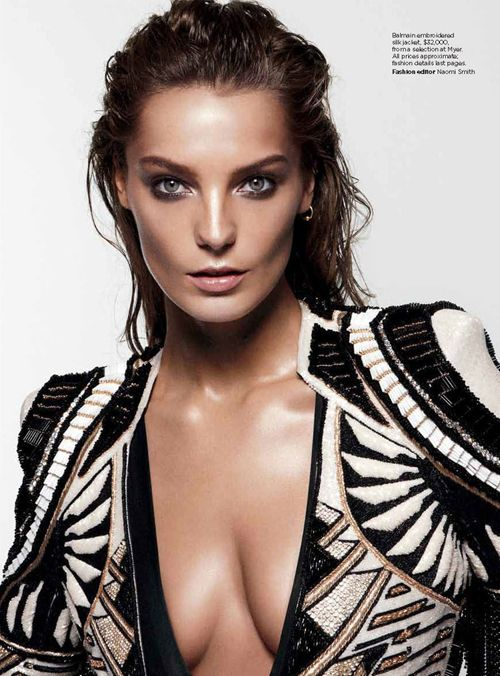 Daria Werbowy by Daniel Jackson for Vogue Australia June 2012 as 'Daria'
