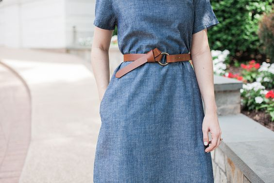 Poor Little It Girl - Monogram Chambray Dress - @poorlilitgirl