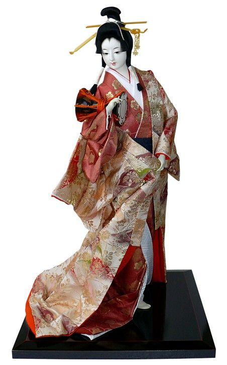 Japanese antique samurai doll. Japanese Kimono Dolls Catalogue. Japanese Art online shop. The Black Samurai Online Shop.