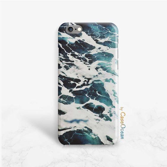 Blue and green sea foam iPhone 6 6s 6Plus ocean phone case iPhone 5 5s 5c SE…