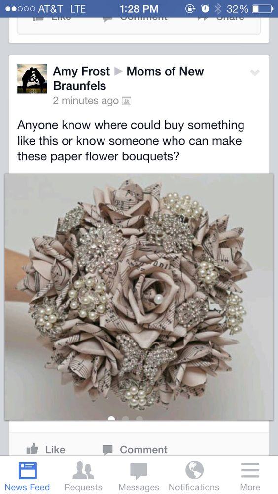 Vintage paper bouquet