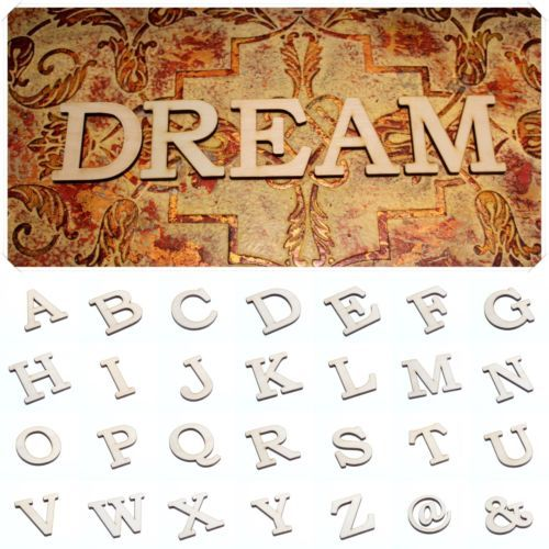 6cm Wooden Unfinished Letters - Perfect for DIY projects! Getting some :)