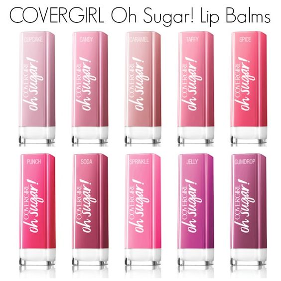 ******** 3/16 - These give a sheer wash of color in a pretty balm. Love Gumdrop! ~MSD **********  COVERGIRL Oh Sugar Lip Balms