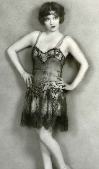 Actress Alice White in lingerie, 1920s.:
