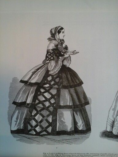 Dome shaped skirt 1858: