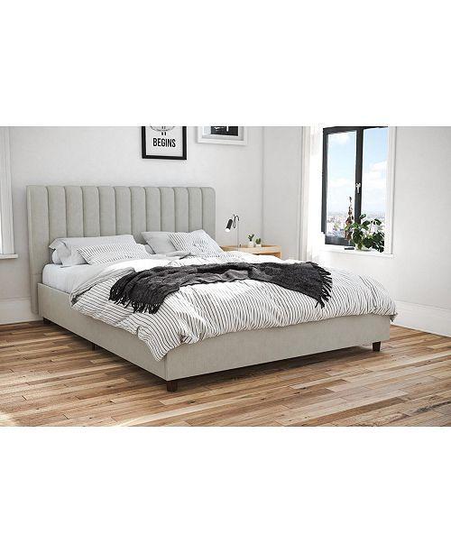 Ameriwood Home 5961325com Slim And Modern Platform Bed Queen Black Oak Queen Size Bed Frames Full Bed Frame Bed Frame