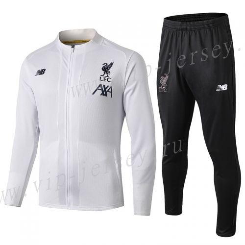 2019 2020 Liverpool White Thailand Soccer Jacket Uniform 815 Football Uniforms Liverpool Jacket Tracksuit