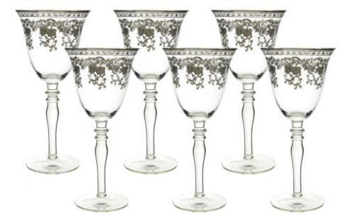 Vintage Fleur de Lise Paired Wine Glasses