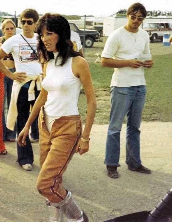 Vintage drag racing girls