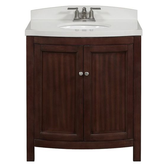 Allen roth moravia sable undermount bathroom vanity with - Bathroom vanities and cabinets clearance ...