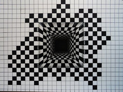 Drawing A Spiral Hole Anamorphic Trick Art Illusion Youtube