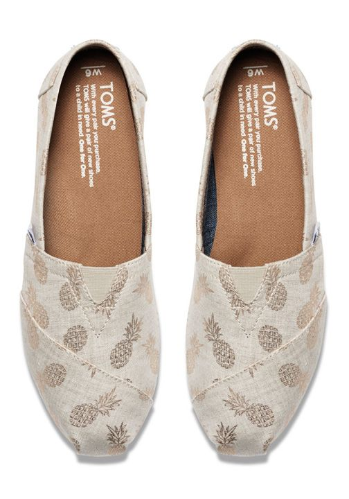 Keep the good vibes going with these slip-ons featuring a tropical pineapple print.: