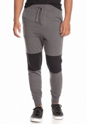 Morse Code  Colorblock Quilted Jogger Pants
