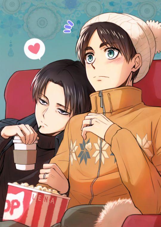 Levi & Eren | Shingeki no Kyojin #anime #shounen-ai: