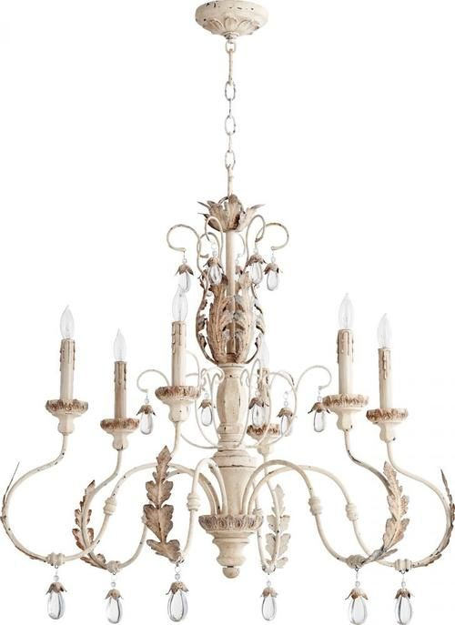 Quorum Lighting 6444 6 70 Venice Chandelier Persian White Transitional Chandeliers Chandelier Ceiling Lights Elegant Chandeliers