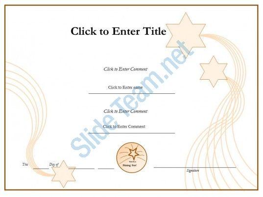 student success diploma certificate template of appreciation - powerpoint certificate template