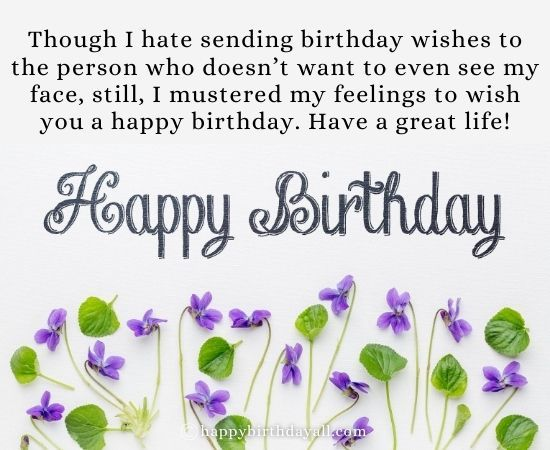 Sarcastic Birthday Wishes And Messages For Ex Boyfriend Birthday Wishes Birthday Wishes For Boyfriend Sarcastic Birthday Wishes