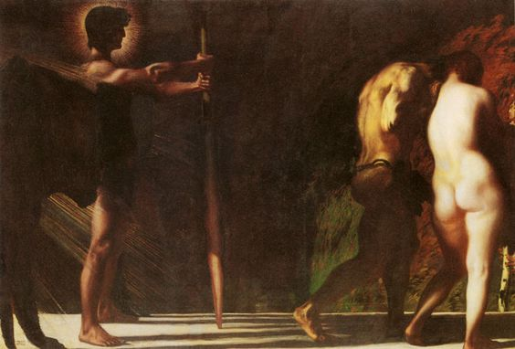 The lost Paradise, 1897 by Franz Stuck. Symbolism. religious painting: