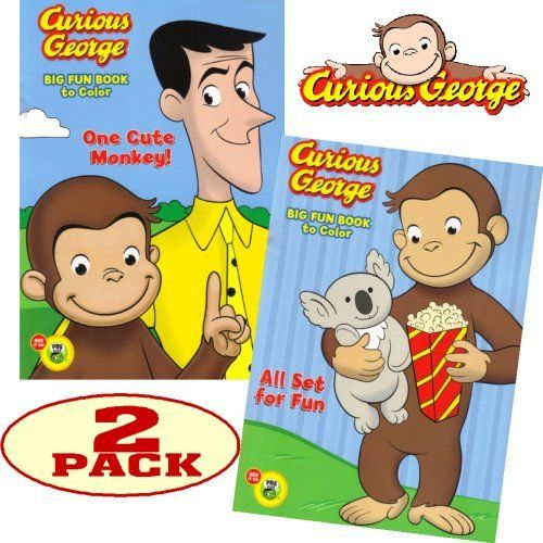 curious george jumbo coloring and activity book set 2 coloring books by pbs kids 850 these coloring books will provide many hours of curious