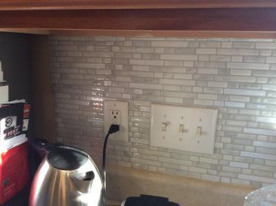 shop smart tiles 6 pack white silver composite vinyl