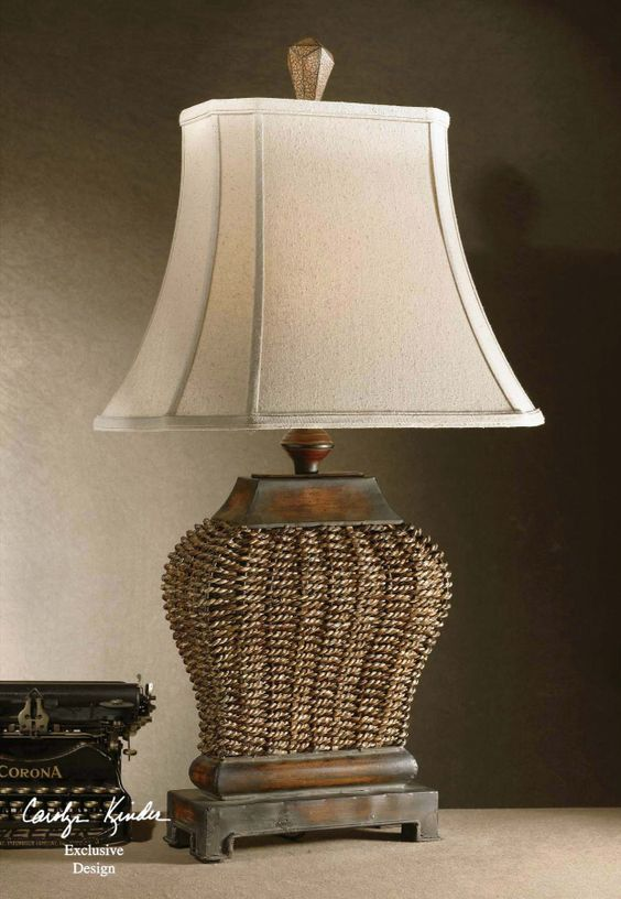 "FineHomeLamps.com - Augustine Rattan Table Lamp by Uttermost - 30"", $183.66 (http://www.finehomelamps.com/augustine-table-lamp.html)"