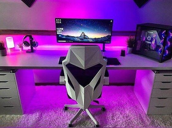 Awesome Gaming Setup Video Game Room Design Computer Gaming Room Video Game Rooms Bedroom gaming setup ideas