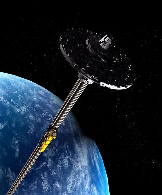 Scientists Propose Spaceline Space Elevator to Transport Astronauts from Earth's Orbit to the Moon Techblog 8/29/19