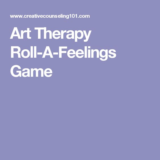Art Therapy Roll-A-Feelings Game
