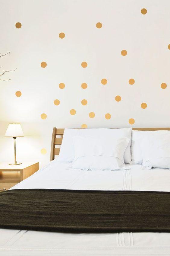 Alegra tu hogar decorando las paredes con lunares                                                                                                                                                     Más