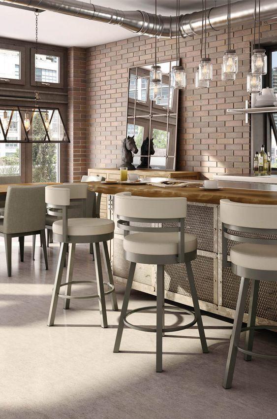 Buy Amisco Ronny Swivel Stool - Free Shipping! • Barstool Comforts | Swivel Bar Stools, Bar Stools, Counter Chairs