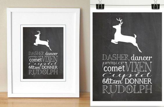 GroopDealz | Santa's Reindeer Printable