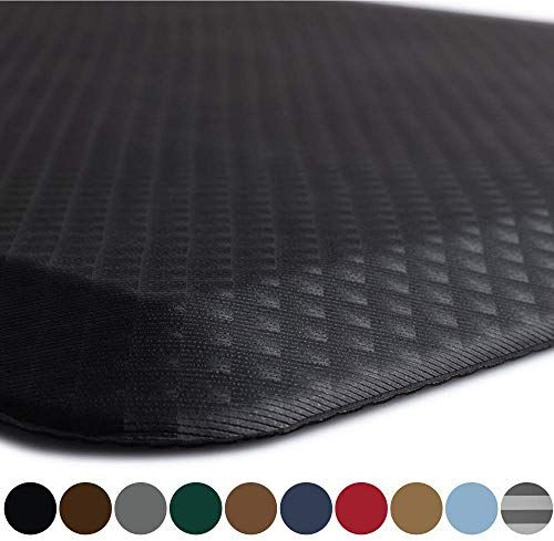 Enjoy Exclusive For Kangaroo Original Standing Mat Kitchen Rug Anti Fatigue Comfort Flooring Phthalate Free Commercial Grade Pads Waterproof Ergonomic Floor Pad Office Stand Up Desk 70x24 Black Online In 2020