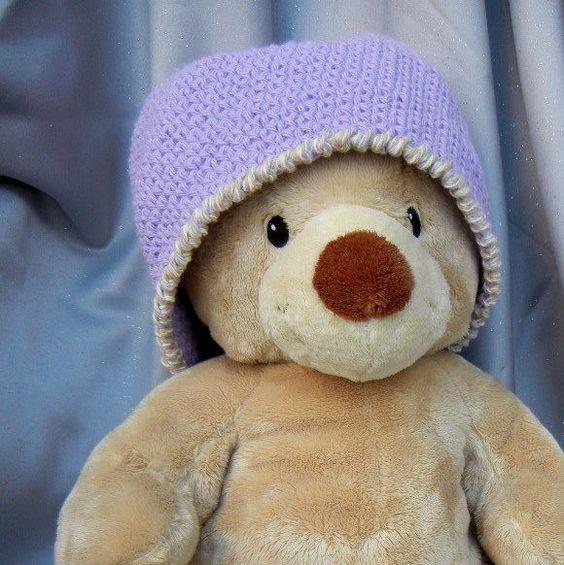 Lilac Crochet Hat Beanie Adult Size #group2020 #adultbeaniehat #womensapparel #outerwear