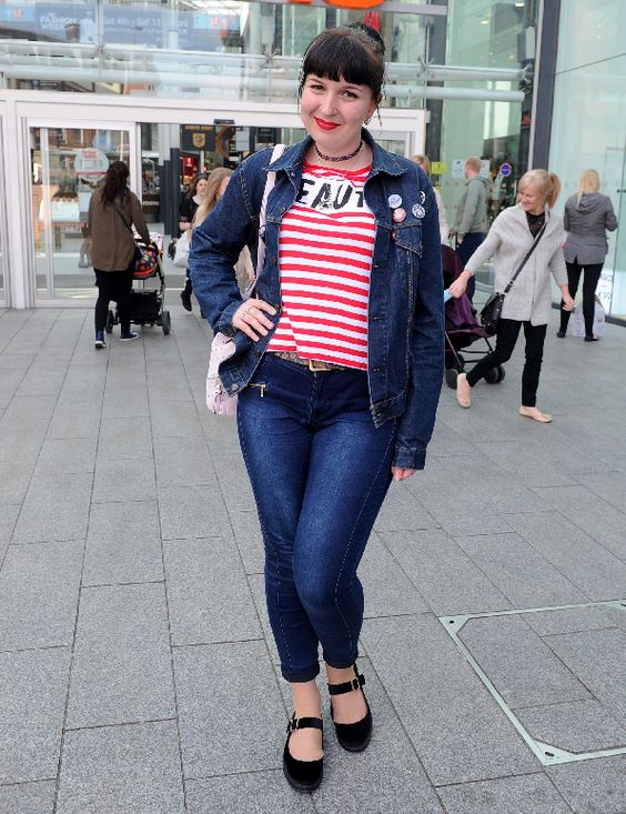 Megan Lister proves that when the double denim look is styled properly, it can look amazing.