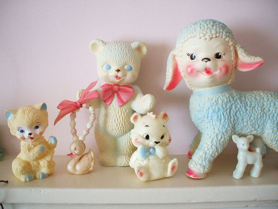 Squeaky collection...I remember holding mine up to my ear and squeaking it.It would tickle my ear.I know,that was dangerous.....lol