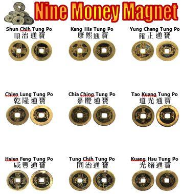 Nine money magnets!