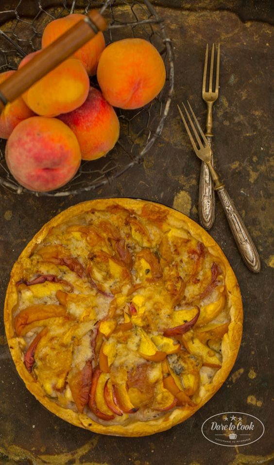 Peach, Goat Cheese Tart